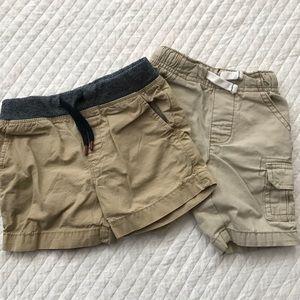 Set of Khaki Shorts; Sovereign Code & Carter's
